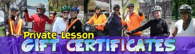 Private Lesson Gift Certificates graphic