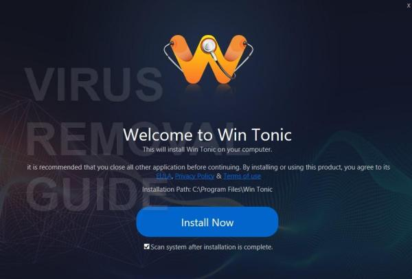 Win Tonic - Virus Removal Guide