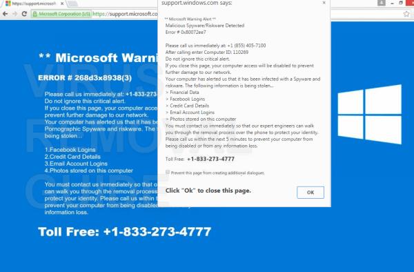 Microsoft Warning Alert