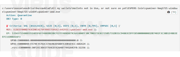 Cpuminer-amd.exe adware