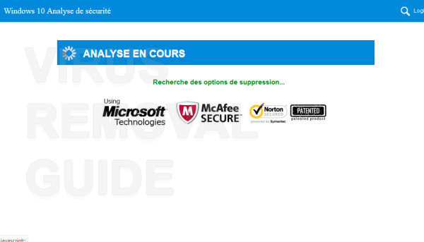 Windows 10 Analyse de sécurité