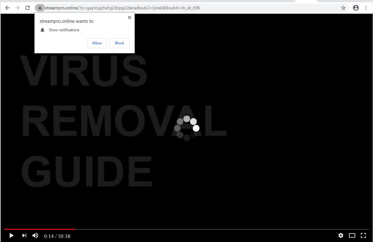 Streampro adware