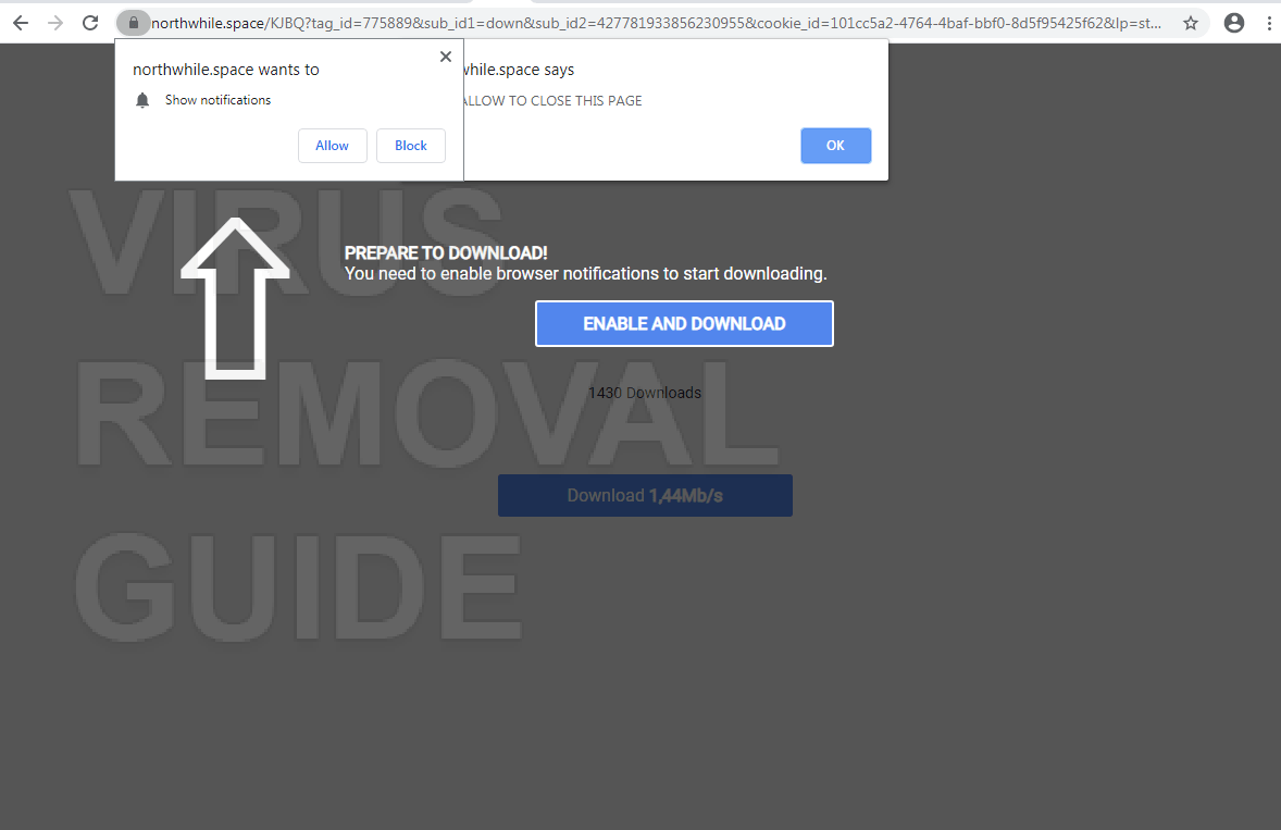 Northwhile.space adware