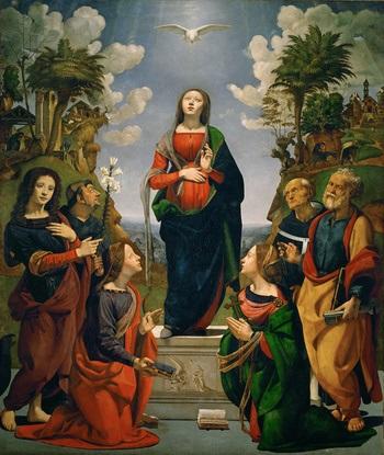 Resultado de imagem para imaculada Conceição pintura