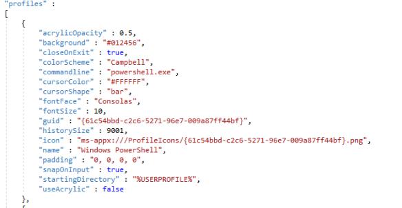 Настройки Windows Terminal - VirusNet