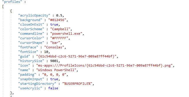 image 1 - Настройки Windows Terminal