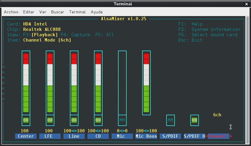 Resolver problemas de audio en debian Wheezy con Intel Corporation NM10/ICH7 (2/3)