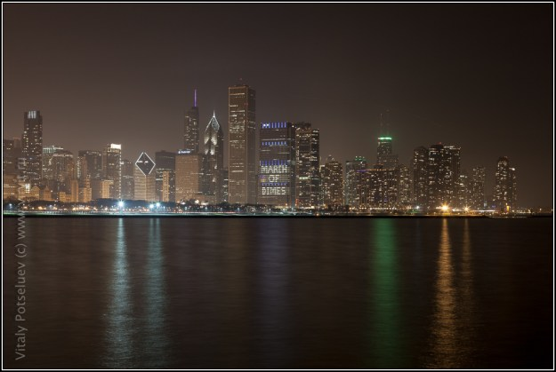 Chicago in the night