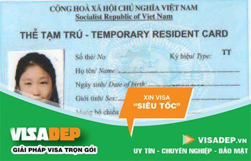Thẻ tạm trú cho người nước ngoài ở Việt Nam