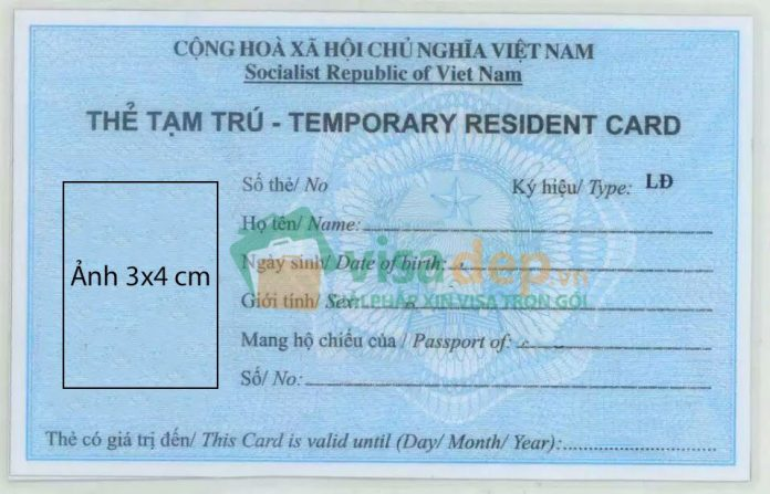 Temporary residence card Việt Nam