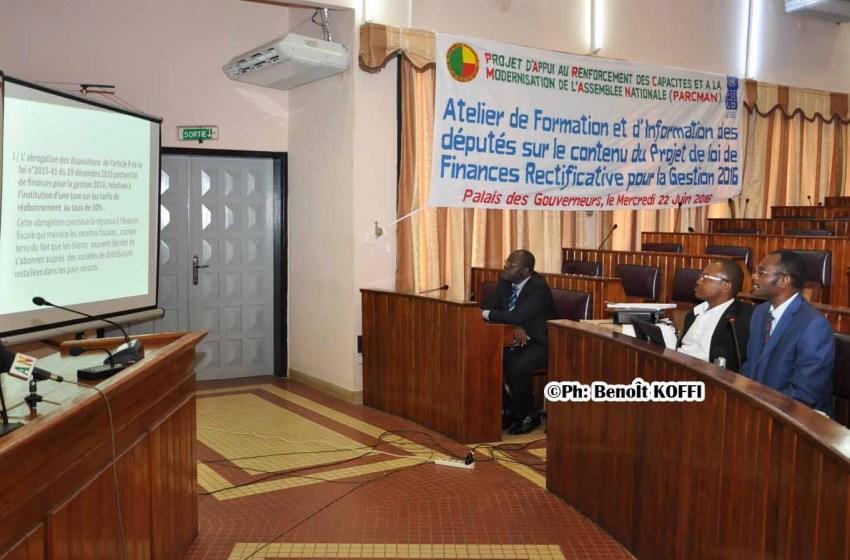 Atelier de formation à l'Assemblée nationale: Les députés aguerris pour examiner le collectif budgétaire 2016