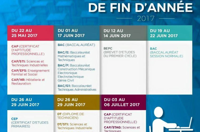 Bénin: Le calendrier officiel des examens nationaux au terme de l'année scolaire 2016 -2017