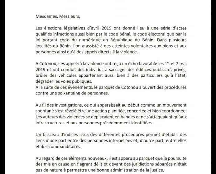 POURSUITE DES INFRACTIONS COMMISES EN PERIODE ELECTORALE : POINT DE PRESSE DU PROCUREUR DE LA REPUBLIQUE  Elon'm Mario METONOU