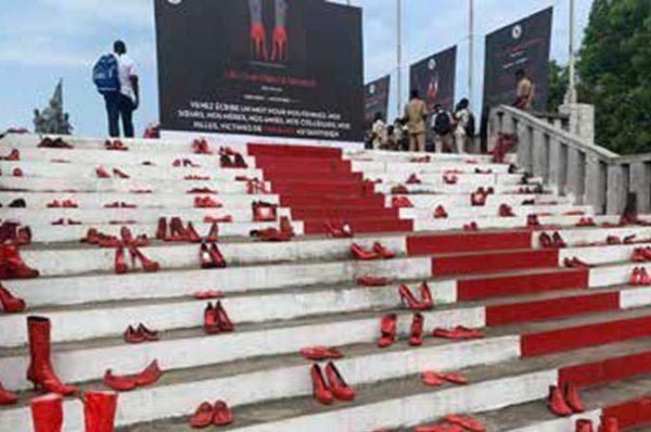 L'esplanade de la place du Souvenir à Cotonou à l'occasion de la Journée mondiale pour l'élimination des violences faites aux femmes