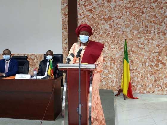 La Première Vice-présidente de l'Assemblée nationale Mariam Chabi Talata Zime