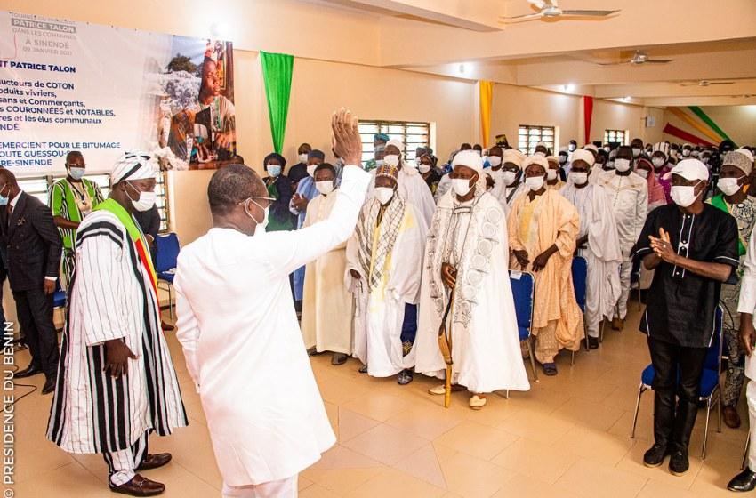 Tournée présidentielle : A Sinendé, Talon vante le modèle qui révèle le Bénin