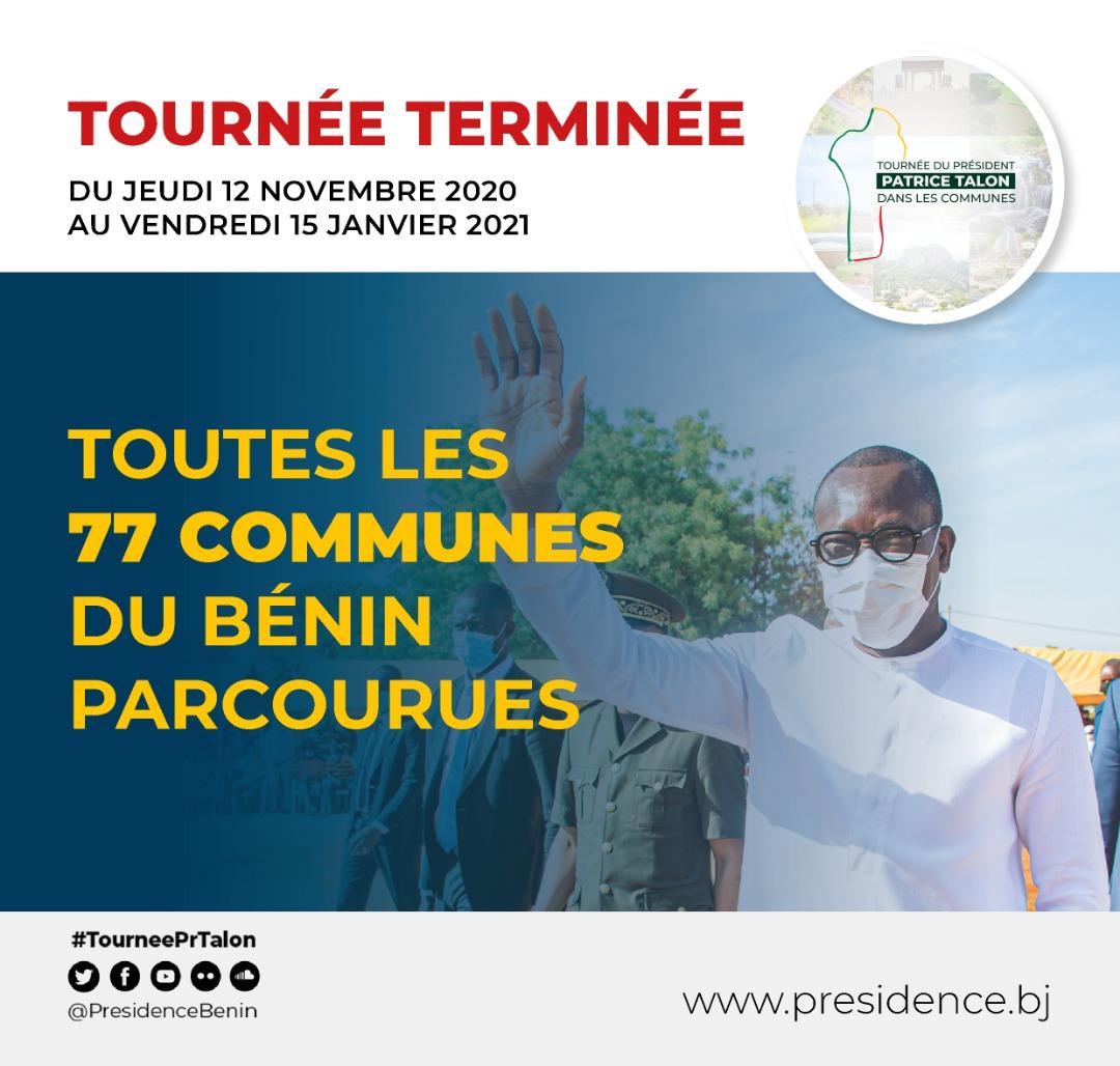 Tournée présidentielle : 77 communes parcourues, pari réussi par le Président TALON