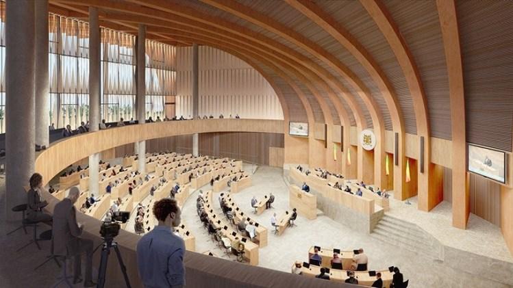 l'Hémicycle vu de l'intérieur