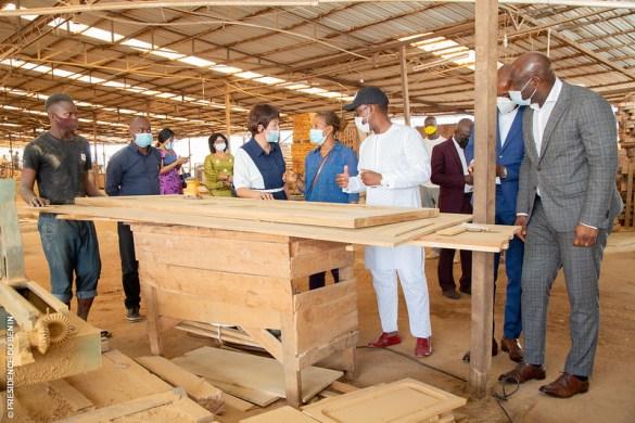 Une vue d'Unité industrielle Yu Lin spécialisée dans la transformation et l'exportation de bois implantée à Bohicon