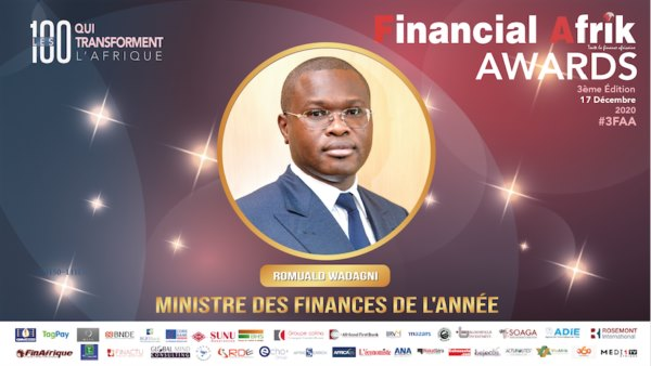 Financial Afrik Awards 2020 : Romuald WADAGNI distingué meilleur ministre des finances de l'année