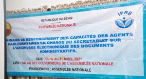 Archivage électronique des documents administratifs : L'IPaB outille les agents parlementaires en charge du Secrétariat