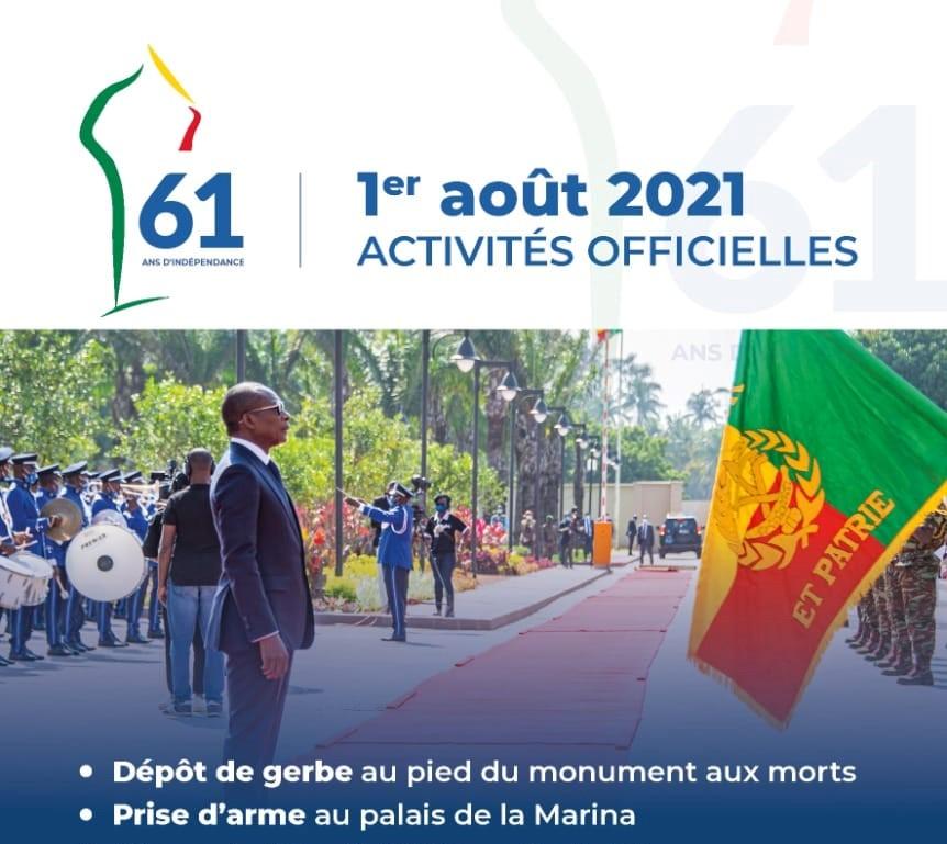 Variant Covid oblige: Service minimum pour le 61ème anniversaire de l'indépendance du #Benin