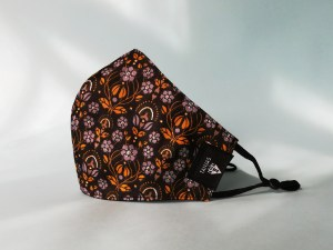 three layered OEKOTEX floral cotton face mask