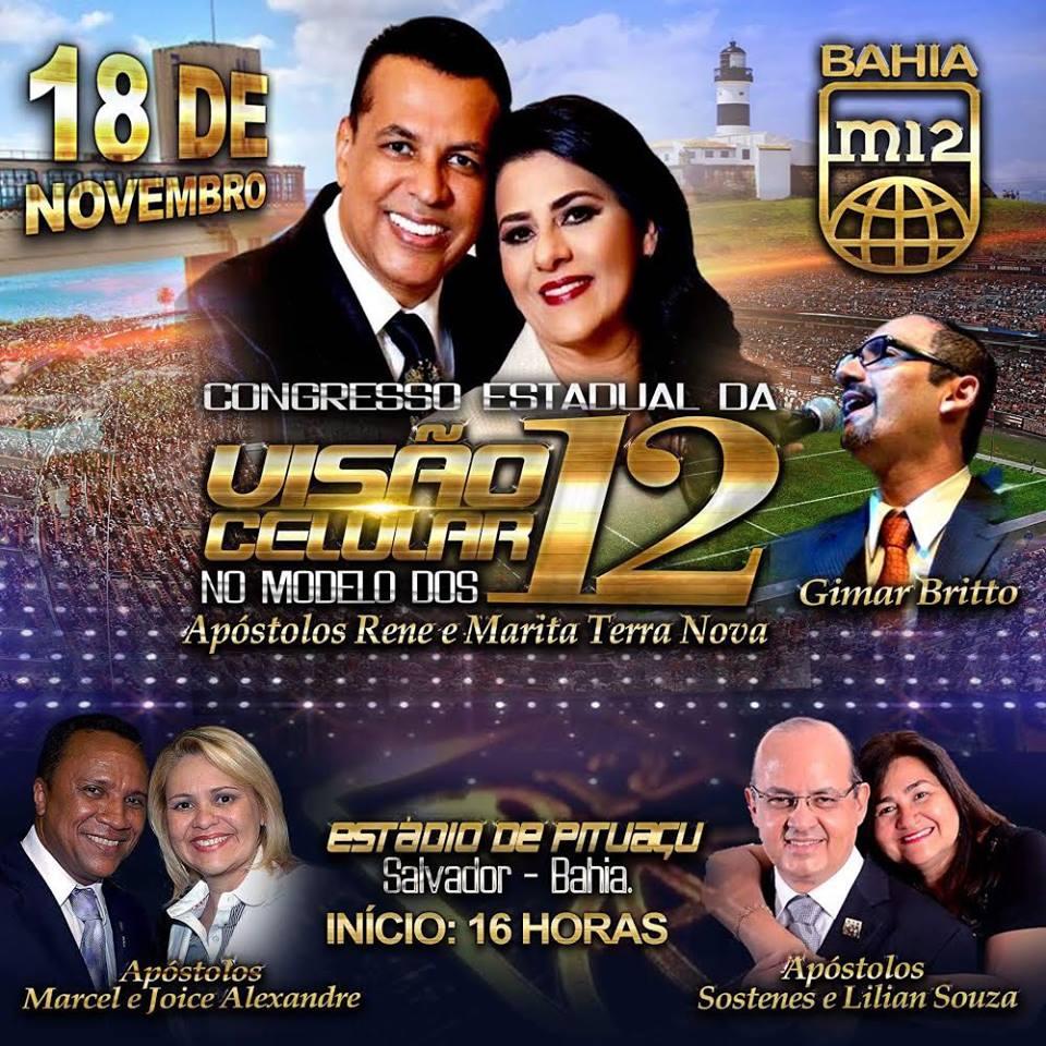 M12 Bahia: Congresso Estadual da Visão Celular M12
