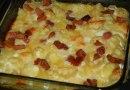 Macarrão com queijo e bacon