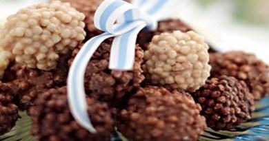 Bolinhas de Cereal de Arroz com Chocolate