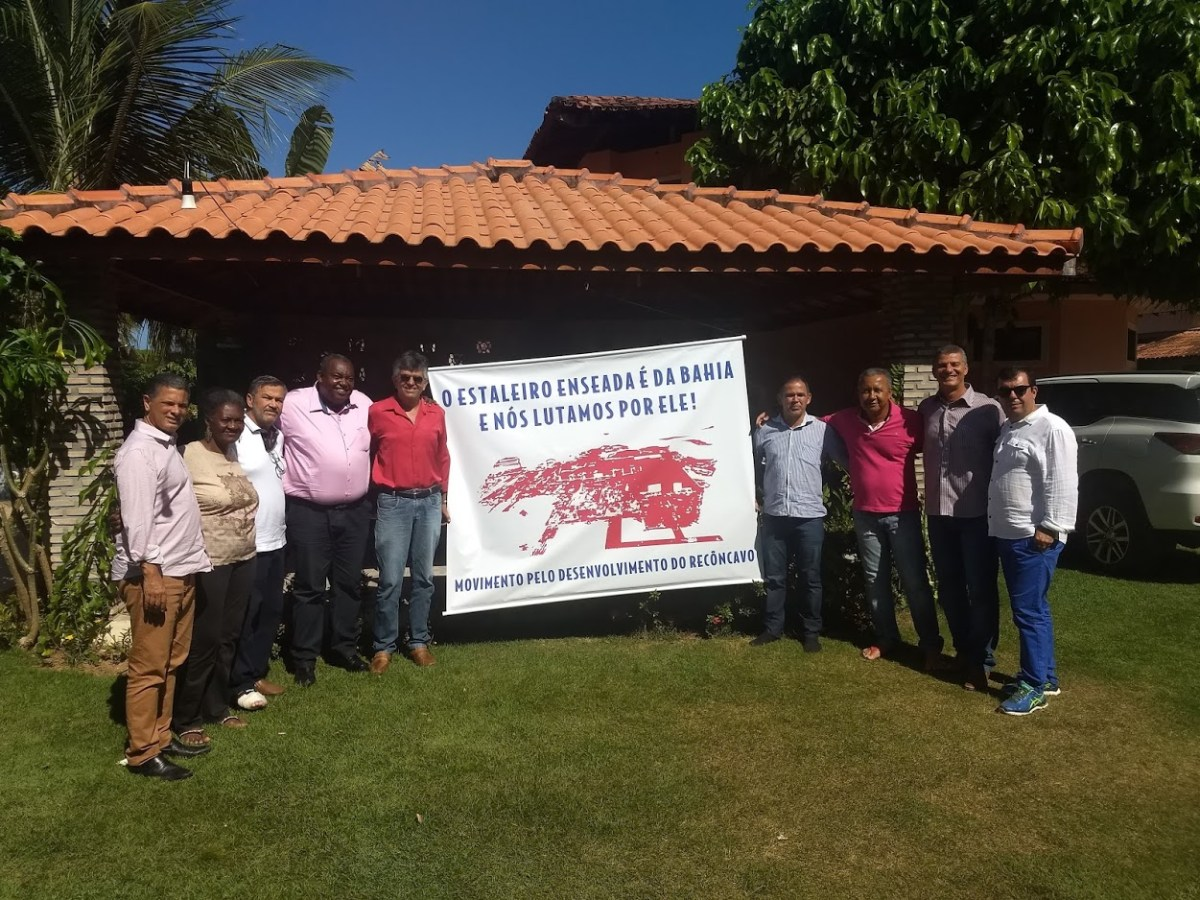 Ex-prefeitos se reúnem a favor do Estaleiro Enseada do Paraguaçu
