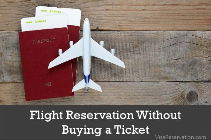 Flight reservation without payment