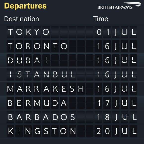 British Airways will also return to a small number of its normal long-haul routes by the end of July.