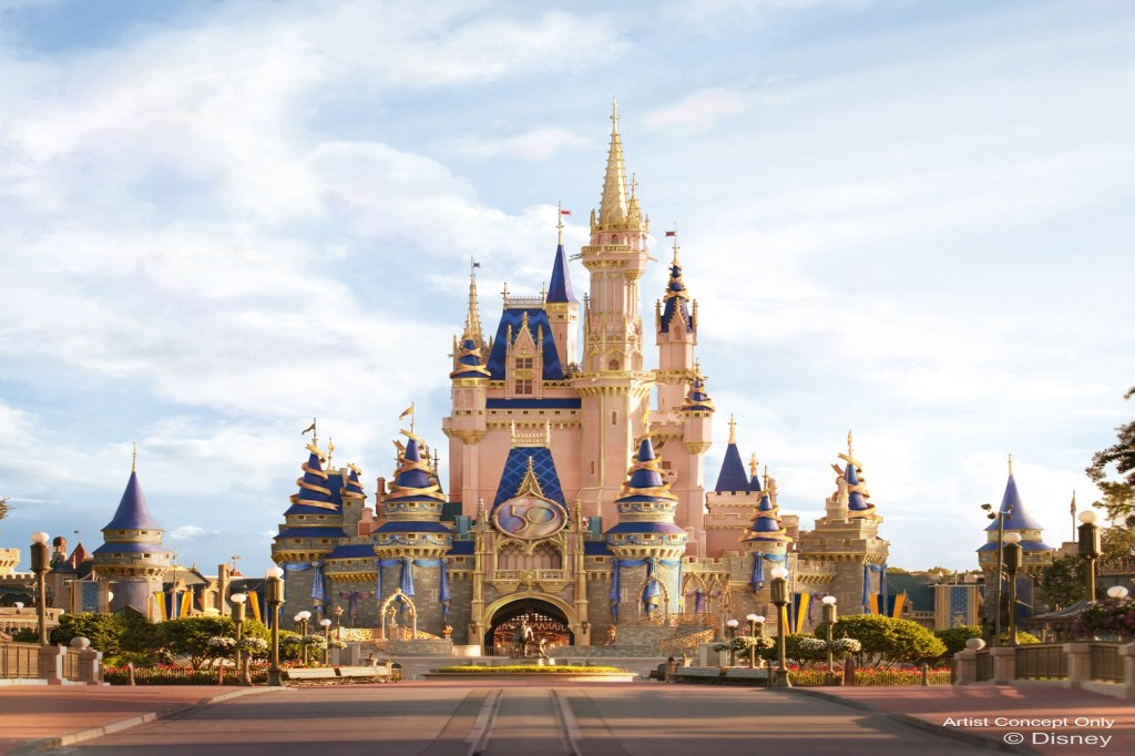 """As hosts of """"The World's Most Magical Celebration,"""" Mickey Mouse and Minnie Mouse will be dressed in sparkling new looks, custom-made for this special occasion."""