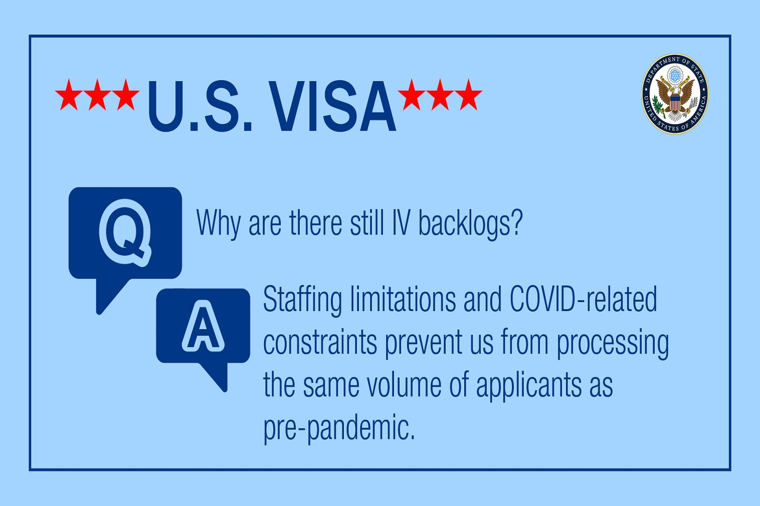 The provision of services to U.S. citizens abroad is the first priority of consular sections abroad.