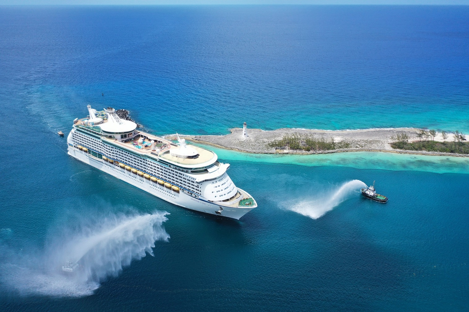 Adventure of the Seas completed its inaugural homeporting ceremony in Grand Bahama Island, with 1,000 passengers!