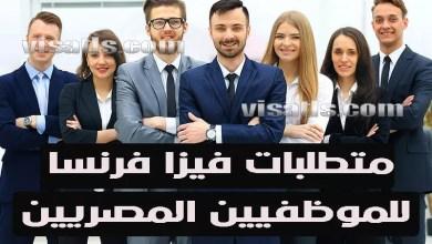 تاشيرة فرنسا للموظفين المصريين – ملف تاشيرة فرنسا