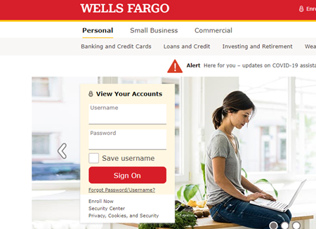 Credit Card Wells Fargo Login image