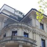 Vista terrazzo esterno appartamento centro milano