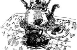 Kaffekjel. Tegning: Øyvind Rauset.