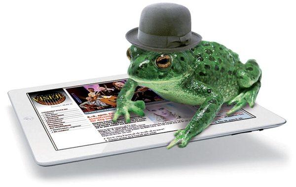 Padde med hatt på iPad2