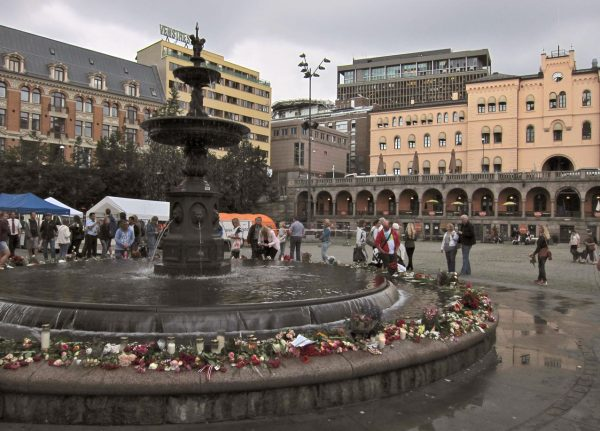 Blomster på Youngstorget