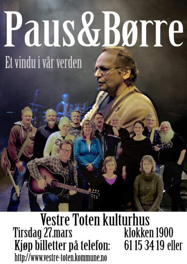 Ole Paus på viseklubben Børre - Plakat