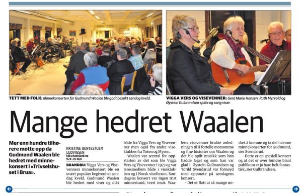 Faksimile fra avisa Hadeland