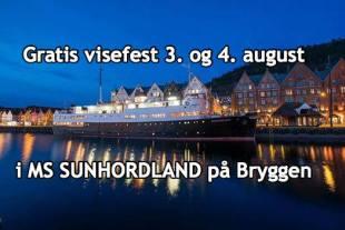 MS Sunnhordland til kai i Bergen