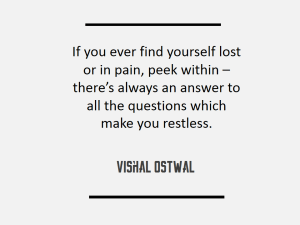 Peek Within Quote - Vishal Ostwal