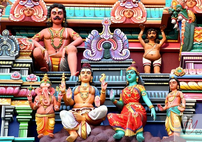 Hindu Deities on South Indian Temples
