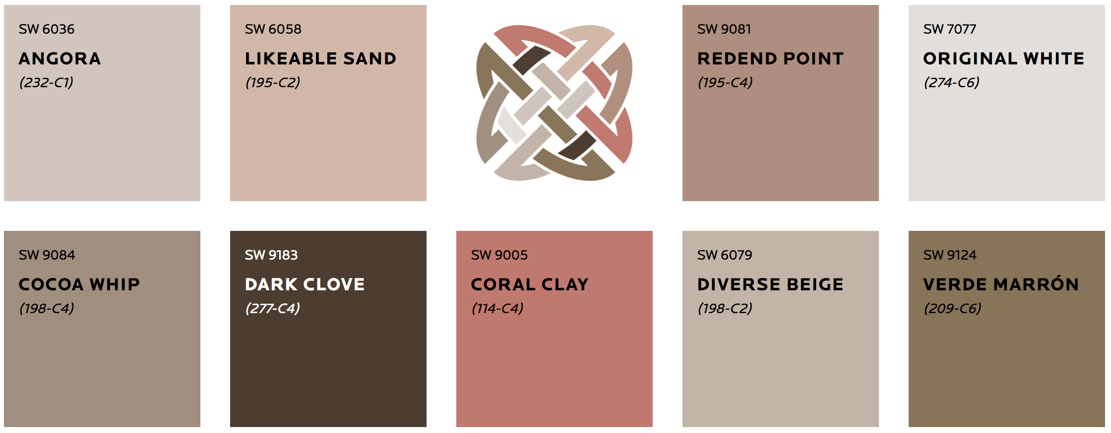 Sherwin-Williams Color Palette From Heart