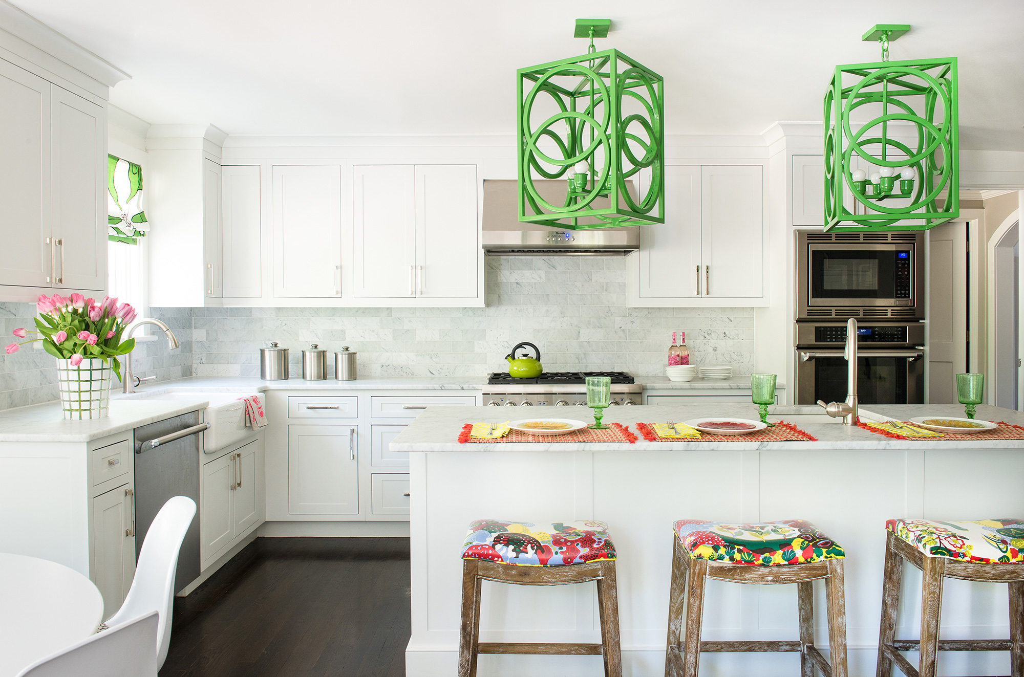 kelly green pendant lights from Shine by S.H.O