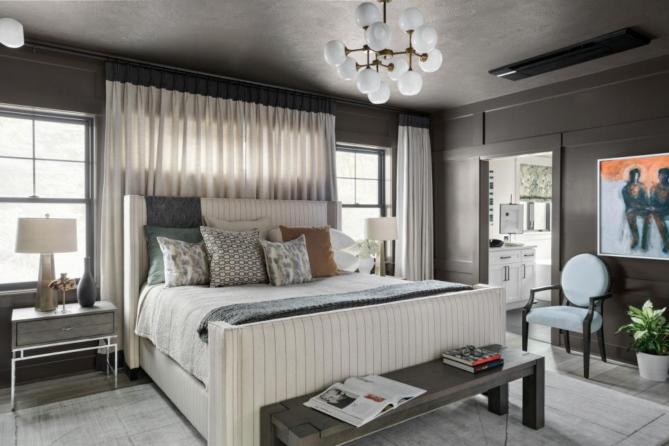 master bedroom of the HGTV smart home